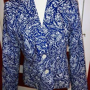 Jackets & Blazers - NWOT Talbots Paisley Cotton Blazer Jacket 8
